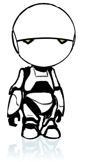Marvin, the paranoid android from H2G2